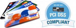 We are 100% PCI DSS Compliance